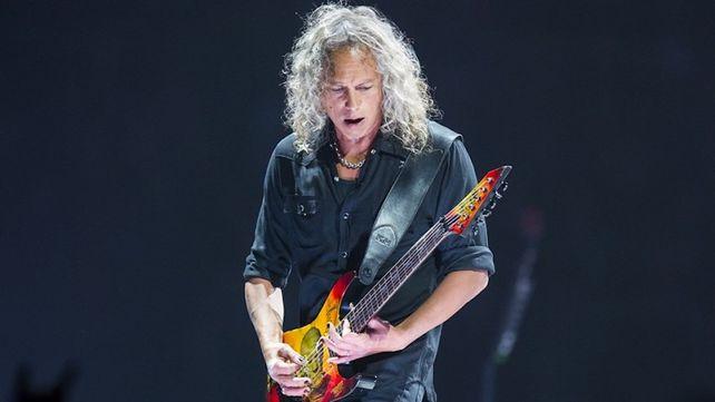 Kirk Hammett ha suonato l'inno prima di una partita di Baseball della MLB