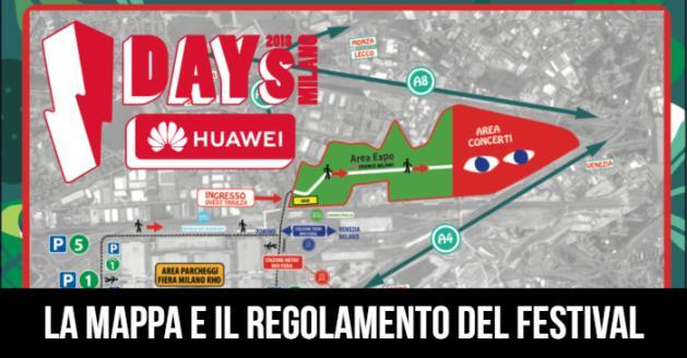 Idays 2018: la mappa e il regolamento del festival